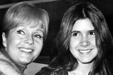 [Picture of Debbie Reynolds and Carrie Fisher]